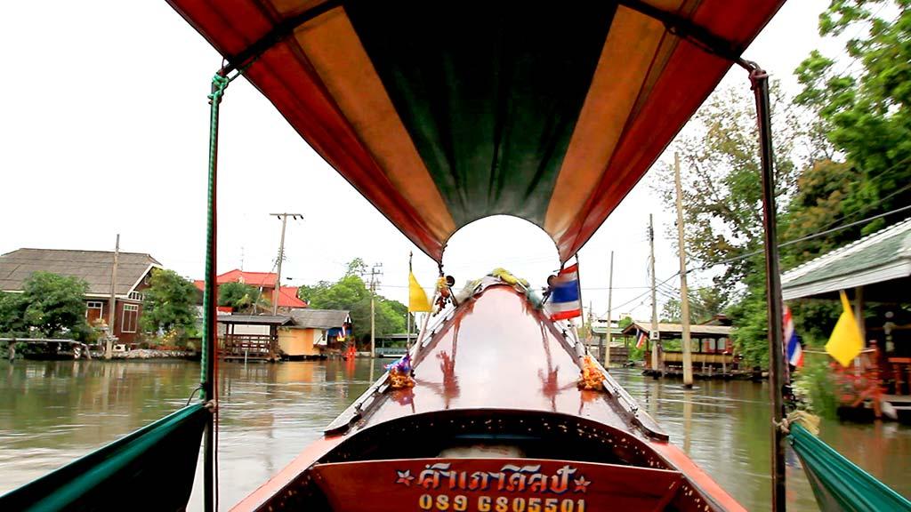 Thonburi canals in Bangkok.