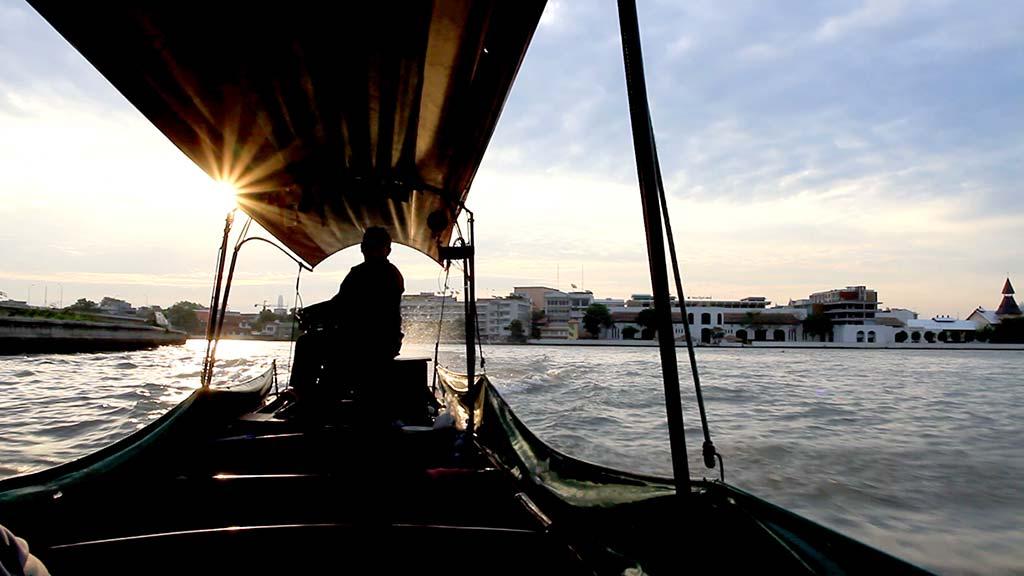 The Chao Phraya River in Bangkok.