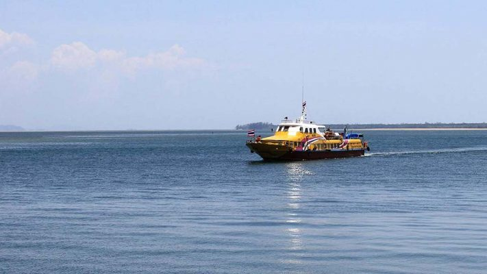 Ferry of the Tiger company in the Andaman Sea.